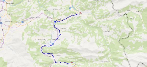 Streckenverlauf Weißenfluh Alpenrunde
